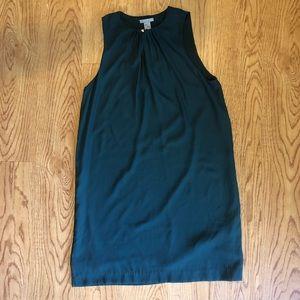 H&M// green/blue sleeveless shift dress